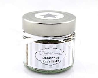 Danish smoked salt, salt, gourmet salt, 175 g, ideal as a gift for grilling cooking for him and her