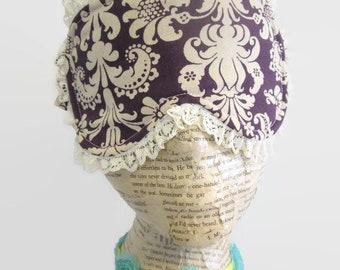 Plum Damask Sleep Mask, Spa Mask, Eye Sleep Mask, Travel Mask, Insomnia,