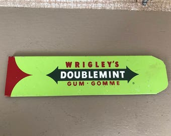 Vintage Wrigley's Doublemint Gum Store Display Rack Front