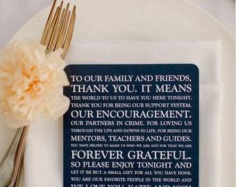 Wedding Thank You Card | Wedding Thank You Card | Thank You Card | Thank You - Style TY5