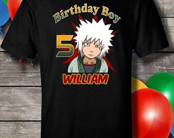 Naruto Jiraiya Birthday Shirt, Jiraiya Birthday, Jiraiya, Naruto, Birthday, Naruto Jiraiya, shirt, boy, girl