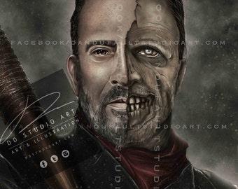 "The Walking Dead's 'Negan', 'Not Dead Yet' Spotlight Series 11x17"" Artist Signed Print"