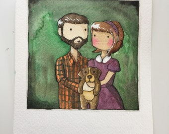 "Polaroid original watercolor 6.75x5.5"""
