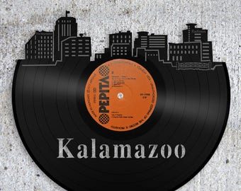Kalamazoo Michigan, Whimsical College, Western Michigan University Art, Kalamazoo Skyline, Michigan Wall Art, College Gifts For Him, For Her