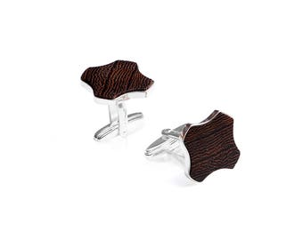 Wooden cufflinks for men Flovea