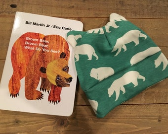Baby Hat and Book Gift Set