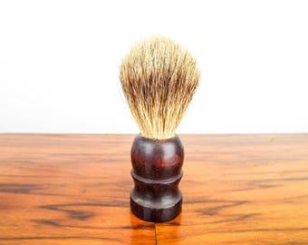Vintage Aramis Travel Shaving Brush Badger Fur Mens Shaving Grooming Shave Accessories, Unique Gift for Men with Facial Hair Moustaches