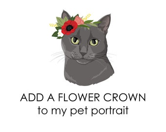 Add a flower crown to your pet portrait.