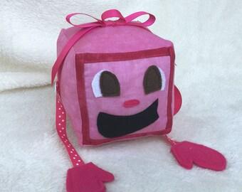 "Tiny Box Tina Plushie! Plush Toy. 4.5"" cube, Pillow. Markiplier Youtuber."