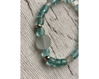 Boho bracelet, pearl bracelet, pearls Turquoise and white
