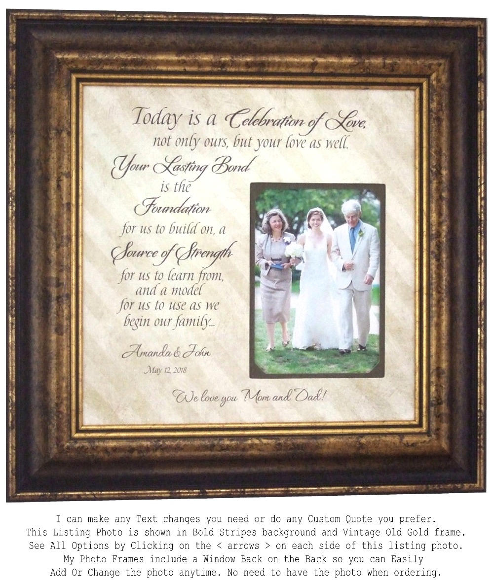 Parents Wedding Gift Father of The Bride Gift Mother of The