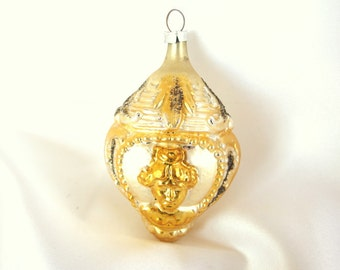 Vintage Gold Figural Christmas Ornament from West Germany