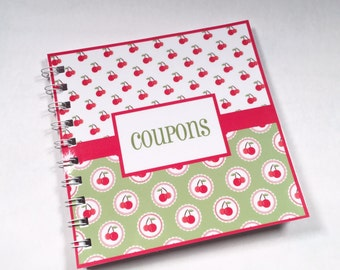 Small Coupon Organizer red green white cherries