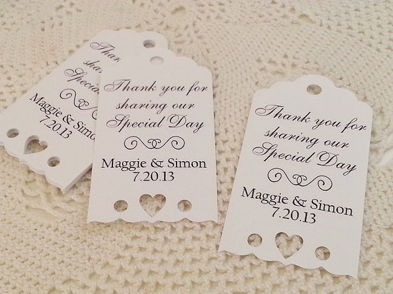 Lovely Personalized Tags For Wedding Favors Gallery - Wedding Decoration  HU88