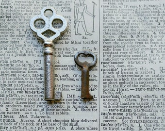 REAL Antique Vintage Brass Handcuff Keys From Deadwood South Dakota