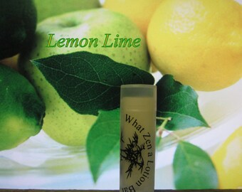 Lemon Lime Lip Balm - 31 Luscious Flavors - 100% Natural