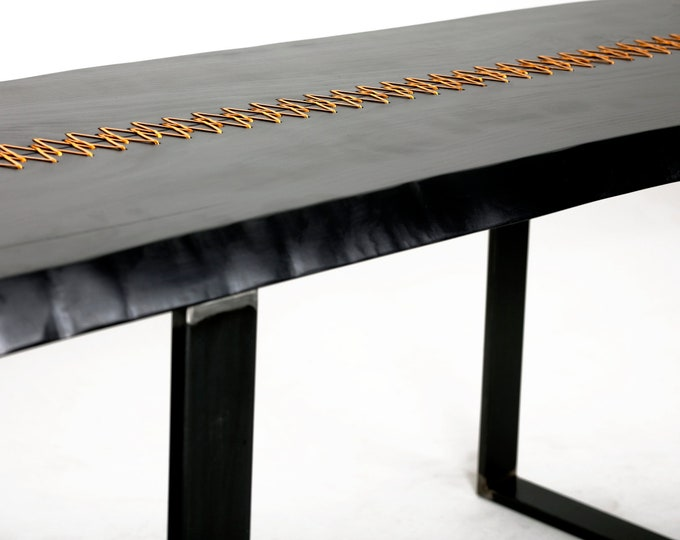 Industrial Furniture, Dining Table, Rustic Home Decor, Home Decor, Table, Side Table, Farmhouse Table, Gold Stitched Table,Tailor made Table