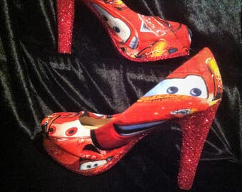 disney cars / lightning mcqueen  heels / shoes * * * sizes uk 3-8