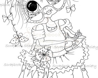 INSTANT DOWNLOAD Digital Digi Stamps Big Eye Big Head Dolls Messy Bessy IMG824 My Besties By Sherri Baldy