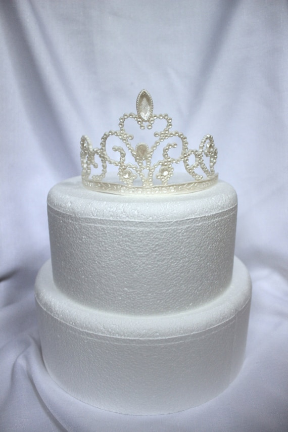 crown cake topper princess cake topper tiara edible fondant toppers sweet 16 3196