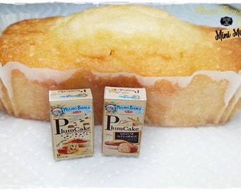 Italian Miniature Food,Handmade, Confezioni a scelta di Plumcake Mulino Bianco in miniatura dolls house in scala 1;12