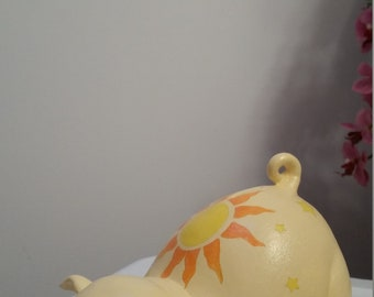 Glow-in-the-dark piggy bank, baby piggy bank, personalized piggy bank