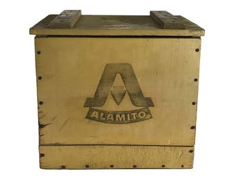 Alamito Dairy Bottle Wood Crate Omaha Box Co.
