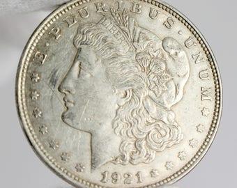 1921 Morgan Silver Dollar, Morgan Silver Dollar, Morgan Dollar, Silver Dollar, 1921 US Dollar,1921 Morgan Dollar, 90% Silver Dollar, 1921