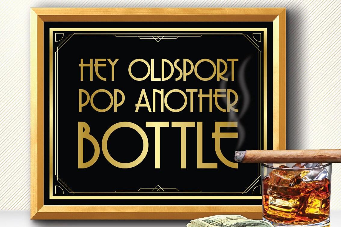 Große Gatsby Partydekorationen Alkohol Zeichen große Gatsby