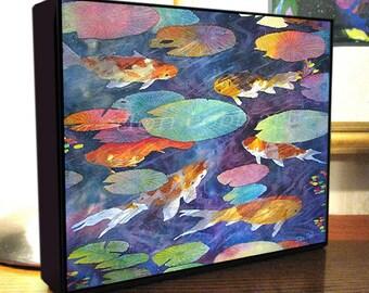 Koi fish art etsy for Koi prints canvas