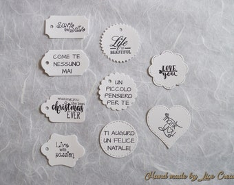 No. 25 tags/gift labels various phrases