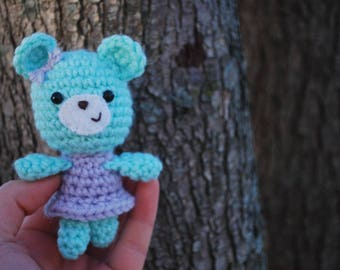 Amigurumi Mouse, Crochet Mouse Plushie with Dress