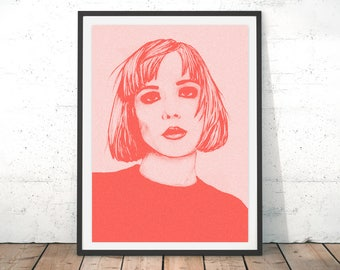 Alice Glass Illustration Print - Fashion, Music, Art, Drawing, Poster, Crystal Castles
