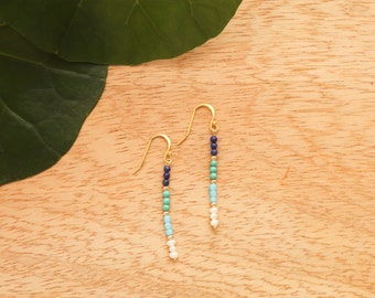 Justice Blue Beaded Earrings