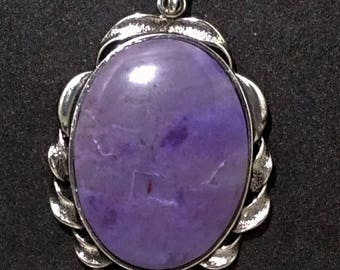A Lovely Purple Burro Creek Jasper Pendant