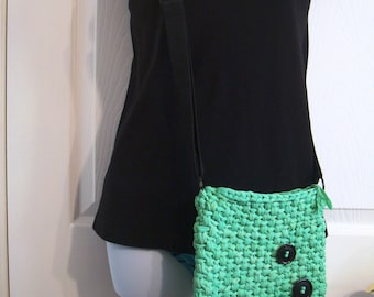 Crossbody Cell Phone Purse Mobile Phone Pouch Shoulder Bag Handbag Hip Pouch Fashion Bag Unlined Lime Green Summer Crochet Small Purse