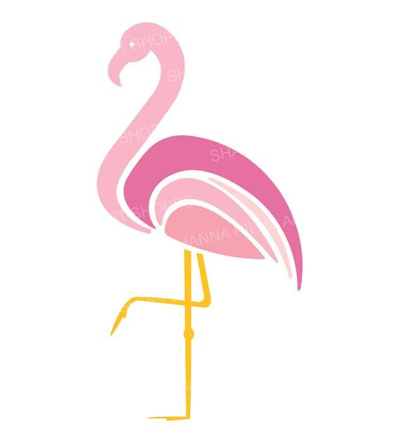 pink flamingo clipart tropical birds instant download art rh etsy com flamingo clip art black and white flamingo clipart outline