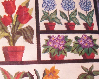 BIG Tapestry Flower Crewel Kit 14 x 30 1974