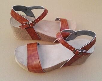 Holidays Sale 20%, Free Shipping, platform sandals,  vegan Sandals, Summer Shoes, , Straps Sandals  vegan  CITY MIEL