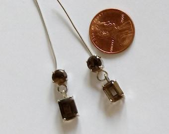 Smokey Quartz Earring (Free Shipping in USA)