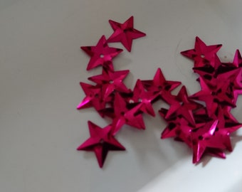 Lot 100 SEQUINS stars 15mm in diameter