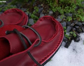 Cherry Mocassin, soft leather TREK high size EU 37