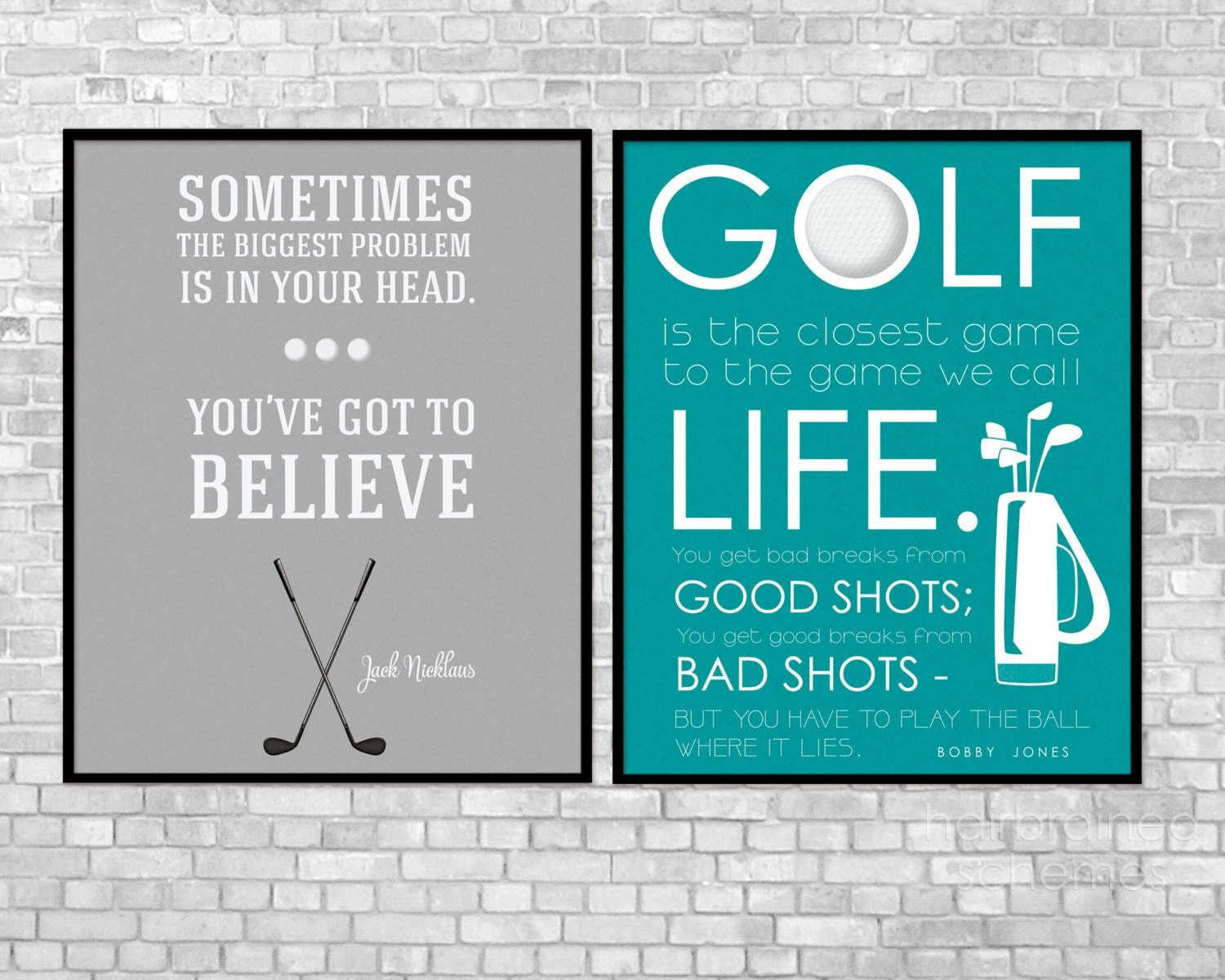 Golf And Life Quotes For Dad Poster Golf Art Print Quote Inspirational Golf Quote