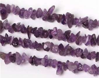 Set of 2-3 to 5 mm approx - coral gemstone beads Amethyst