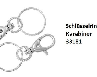 Key rings, key rings with carabiner