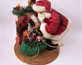Vintage Santa Claus and His Bag of Toys/Presents