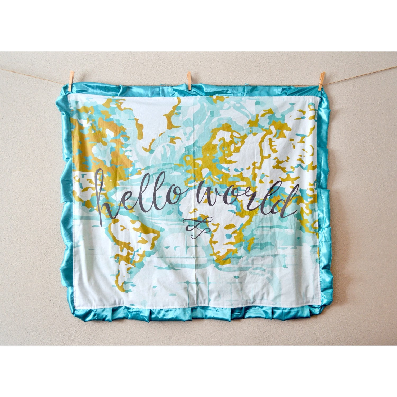 Baby blanket gorgeous hello world nautical zoom gumiabroncs Images