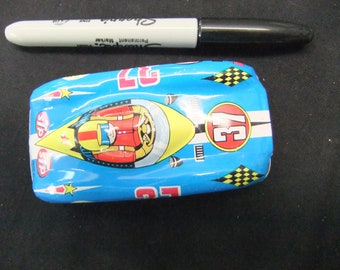 Vintage Toy STP Race Car - Friction Tin Lithographed Japanese Friction Toy Race Car STP Logo - Made in Japan