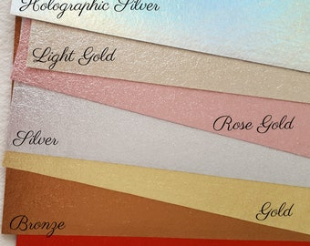 Brushed Silver or Gold Metallic Felt (priced by sheet)
