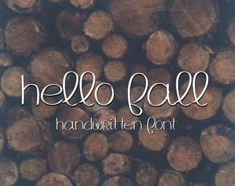 Digital Font Download- MRF Hello Fall- handwritten font for commercial use- instant download-open type otf-true type ttf